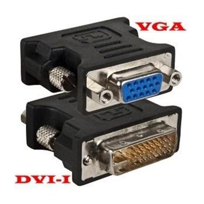 Verloop DVI-I 24+4 male - VGA 15p female