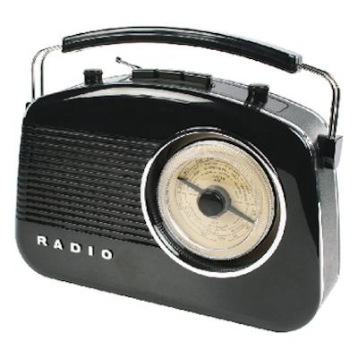 Retro draagbaar FM / AM radio Zwart