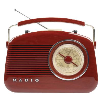 Retro draagbaar FM / AM radio Bruin