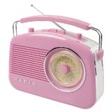 Retro draagbaar FM / AM radio Roze