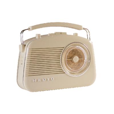 Retro draagbaar FM / AM radio Ivoor